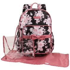 Laura Ashley Floral Bow Microfiber Backpack w/ Pouch Girl Diaper Bag, Diaper Bag Backpack, Floral Backpack, Diaper Bags, Cute Mini Backpacks, Girl Backpacks, Pretty Backpacks, Fisher Price Diaper Bag, Cute Bags