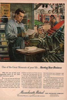 Letterpress - life insurance advert | Flickr - Photo Sharing!