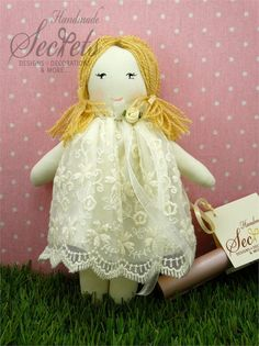 Doll, Handmade Doll, Fabric Doll, Cute Doll, Doll With White Dress, Doll With Lace, Baby Girl, Baby Shower, Baby Party, Baby Gift, Set of 5 Pet Toys, Doll Toys, Kids Toys, Teddy Bear Toys, Original Gifts, Baby Party, Cute Dolls, Fabric Dolls, Beautiful Dolls