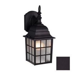 Cascadia Lighting Vista 14-1/2-in Textured Black Outdoor Wall Light Item #: 432332 |  Model #: 943514 | $39.15
