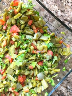 This Mexican cactus salad recipe is absolutely delicious, refreshing and goes great on a corn tortilla topped with some queso fresco and avocado. Cactus Tacos, Cactus Food, Cactus Salad, Cactus Art, Cactus Plants, Mexican Dishes, Mexican Food Recipes, Vegetarian Recipes, Cooking Recipes