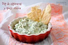 Dip de espinacas y queso crema #botana #snack #homemade
