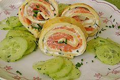Pfannkuchen vom Blech mit Räucherlachs (Rezept mit Bild) | Chefkoch.de