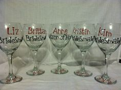 personalized wine glasses great for wedding by kamelotdesigns, $6.00