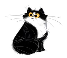 Daily Cat Drawings Black And White