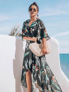 2c1803dd8778f Beach Dot Chiffon Swimwear Cover-Ups – oshoplive Dress Sash, Chiffon Maxi  Dress,