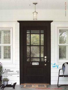 Trendy house entrance ideas diy the doors Ideas Best Front Doors, Black Front Doors, Black Exterior Doors, Exterior Door Trim, Exterior Paint, Exterior Doors With Glass, Front Doors With Windows, Doors With Glass Panels, Diy Exterior