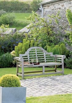 Best DIY Outdoor Bench Ideas for Seating in The Garden This easy to develop wooden outdoor bench is made from stress treated timber. Do It Yourself Outdoor Timber Furniture · Adirondack chair on sandy coastline next to a river. Outdoor Landscaping, Outdoor Gardens, Landscaping Design, Lutyens Bench, Garden Furniture, Timber Furniture, Furniture Stores, Adirondack Furniture, Outdoor Furniture