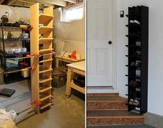 DIY Garage Shoe Organizer | DIY Cozy Home