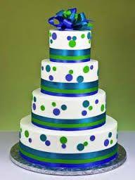 Blue and green polka dot wedding cake Crazy Wedding Cakes, Fondant Wedding Cakes, Crazy Cakes, Fancy Cakes, Fondant Cakes, Gorgeous Cakes, Pretty Cakes, Amazing Cakes, Cupcakes