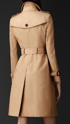 Mel Trench coat longo em gabardine de algodão - Imagem 2
