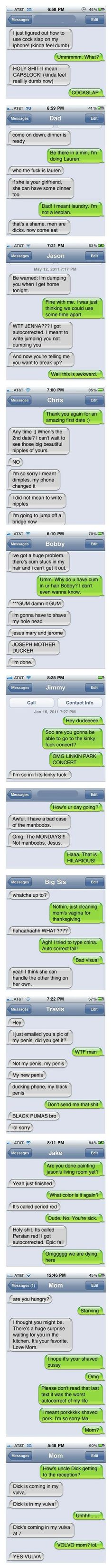 Funniest Auto-Corrects Of 2011 Haha I cried reading these! More funny things: www.funiest-stuff.com