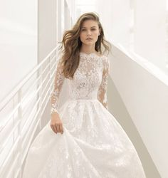 New | Rosa Clara | A fairytale princess wedding dress with silk lace details head-to-toe and a beautiful tattoo-effect bodice. Available at Designer Bridal Room, Hong Kong