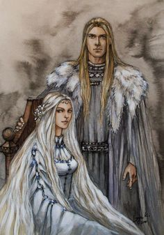 Finarfin of the Noldor Eärwen - Swan-maiden of Alqualondë  Father and Mother of Finrod and Galadriel.