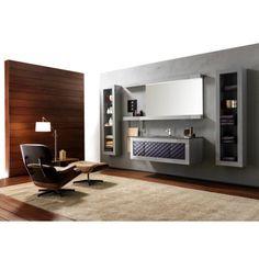 Karol bathroom vanities at Exclusive Home Interiors. Visit our showroom for more details. Luxury Bathroom Vanities, Italian Bathroom, Modern Vanity, Corner Desk, Shower, Interior Design, Furniture, South Florida, Showroom