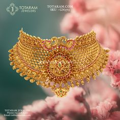 peacock - Buy Gold and Diamond Jewelry gifts Online that are made in India and ship from Totaram Jewelers Online in New Jersey USA Jewelry Design Earrings, Gold Earrings Designs, Gold Jewellery Design, Necklace Designs, Gold Temple Jewellery, Gold Wedding Jewelry, Bridal Jewelry, Gold Choker Necklace, Gold Necklaces
