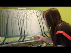 nice piece and how to paint the forest, along with some inspirational messaging on purpose in life Acrylic Painting Techniques, Painting Videos, Art Techniques, Painting & Drawing, Painting Clouds, Painting Flowers, Painting Tips, Watercolor Video, Watercolour Tutorials