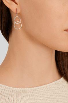 Monica Vinader - Diva Kiss rose gold-plated diamond earrings #MonicaVinader
