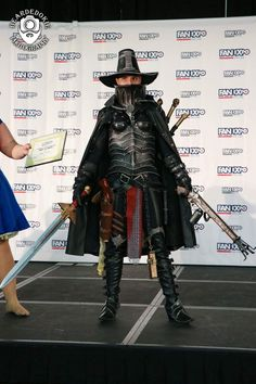 JAFantasyArt's Inquisitor Adrastia costume winning best in show at Fan Expo Dallas Master of Cosplay Central Qualifier.  www.jafantasyart.com