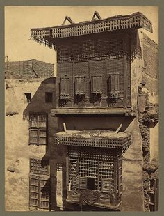 Egypt - Cairo - old house and Masharabieh. Francis Firth, photographer. ca.1856-60. Library of Congress