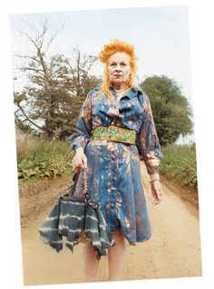 Vivienne Westwood. I can only hope that I'll be this awesome when I'm her age :)