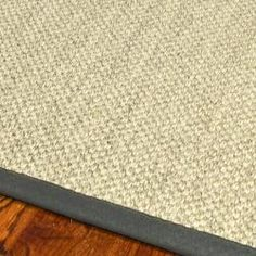 @Overstock.com.com - Hand-woven Resorts Natural/ Grey Fine Sisal Rug ***less expensive rug option