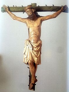 Crucified Christ, wood carving, Castile and Leon, Spain, c. half XV century   da mike catalonian