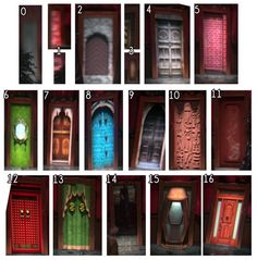 The different doors from Jeffersons/the mad hatters hat - Do you guys know where they might go? Comment