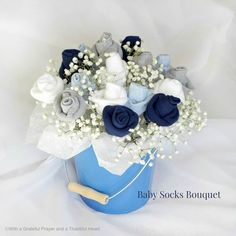 How to Make Baby Socks Flower Bouquet 3
