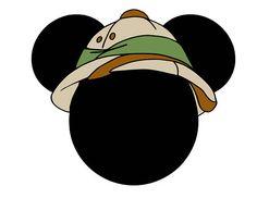 Bolo Mickey E Minnie, Mickey Mouse Head, Mickey Mouse Clubhouse, Mickey Party, Safari Theme Birthday, Safari Party, Baby Birthday, Jungle Hat, Crazy Mom