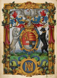 Arms of Henry Fitzalan ~ The Psalter of the Earl of Arundel, (London, Paris?, 1565).
