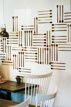 30 Ideas for Interior Decorating with Wooden Spoons Adding Ethnic Chic to Modern Homes - wood spoon wall decorations horizontal and vertical lines. Bakery Decor, Bakery Design, Cafe Design, Restaurant Design, Bakery Interior Design, Bakery Display, Bakery Ideas, Bakery Cafe, Coffee Crafts