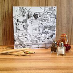 A Cozinha Secreta e a Provence para colorir