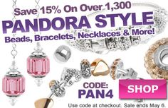 #Pandora Style Beads Sale at www.beadaholique.com - Great as #MothersDay or birthday gifts, these large hole beads are also used in #beading and #DIY #jewelry-making projects.