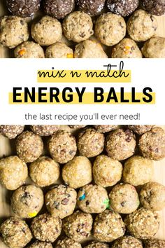The ultimate energy ball recipe! Use your favourite ingredients and add-ins (or whatever you have in the house!) to make any flavour you want! Yummy Healthy Snacks, Easy Snacks, Healthy Fats, Healthy Recipes, High Protein Recipes, Protein Snacks, Breakfast Recipes, Snack Recipes, Delicious Recipes