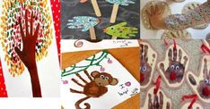 Avec leurs mains, vos enfants pourront créer des oeuvres fabuleuses: 5 bricolages simples & amusants à partir d'empreintes - Brico enfant - Trucs et Bricolages Oeuvres, Kids And Parenting, Gingerbread Cookies, Diy And Crafts, Kids Rugs, Activities, Strasbourg, Nature, Kids Fall Crafts