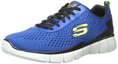 Skechers EQUALIZER 2.0 Settle the Score, Herren Sneakers, Blau (BLBK), 40 EU - http://on-line-kaufen.de/skechers/40-eu-skechers-herren-equalizer-2-0-settle-the