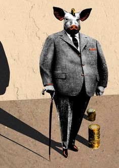 Editorial piece- is the greedy banker image just a stereotype? A Decade, Knight, Suit Jacket, Blazer, Editorial, Jackets, Illustrations, Fictional Characters, Play
