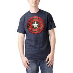 Captain America Men's Realtree Shield Graphic Tee, Size: XL, Blue