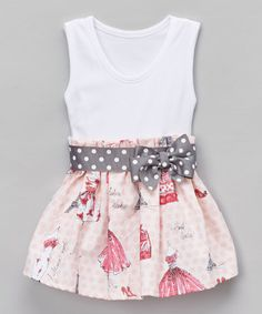 Another great find on #zulily! Pink Parisian Bow A-Line Dress - Infant & Toddler #zulilyfinds