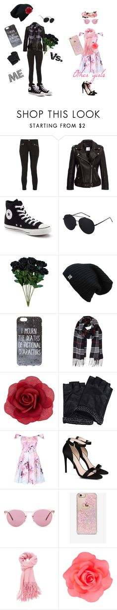 """Me vs others"" by certified-fan ❤ liked on Polyvore featuring J Brand, Converse, Hot Topic, Humble Chic, Accessorize, Karl Lagerfeld, STELLA McCARTNEY, Oliver Peoples and Skinnydip"