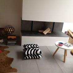 Maison Angers - Salon sol béton ciré - Mobilier design