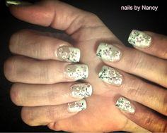 Cherry blossom nails.