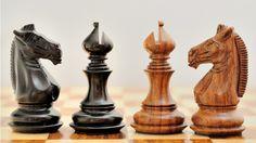 New Handcarved Weighted Staunton Chess Set in Shesham & Ebony Wood 4Q. http://www.chessbazaar.com/chess-pieces/mid-range-chess-pieces/new-handcarved-weighted-staunton-chess-set-in-shesham-ebony-wood-4q.html