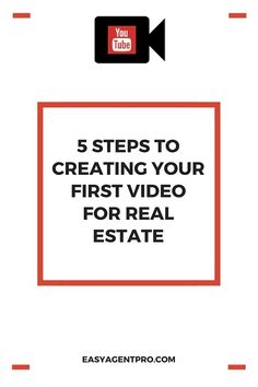 Is creating video content one of your New Year's resolutions? Video marketing provides a unique opportunity for real estate agents who want to capture more leads online. After all, YouTu(Step House Real Estates) Marketing Website, Marketing Software, Online Marketing, Marketing Ideas, Marketing Tools, Social Marketing, Content Marketing, Internet Marketing, Affiliate Marketing