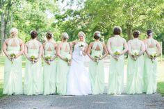 Pistachio Green & Grey Summer Wedding|Photographer:  Something Blue Wedding Photography