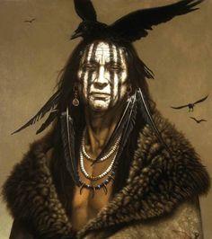 native american war paint | Painting by Kirby Sattler: http://kirbysattler.sattlerartprint.com/