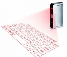 Projection keyboard. Actually works, and it's awesome.