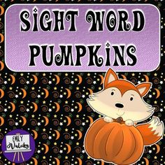 Sight Word Pumpkins (Pre-K Dolch Sight Words) Pre K Sight Words, Dolch Sight Words, Hands On Activities, Literacy Activities, The Fun Factory, Teacher Resources, Teaching Ideas, Orange Paper, Autumn Theme