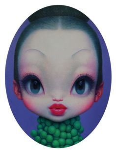 Zhijie Wang Little Girl No.10 135 x 100cm, Acrylic on Canvas (2012) Courtesy of Elga Wimmer PCC